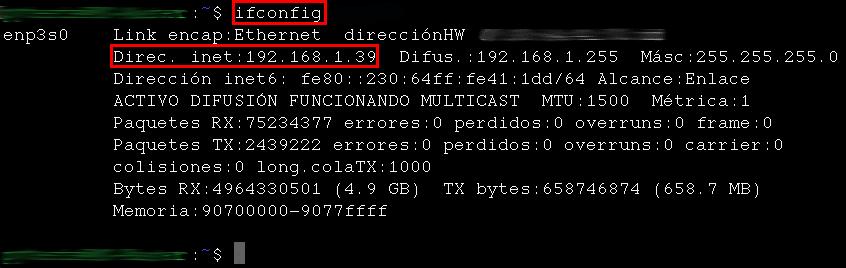 Terminal Linux - Comando ifconfig